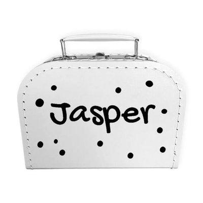 Koffer bedrukken 20cm (wit)