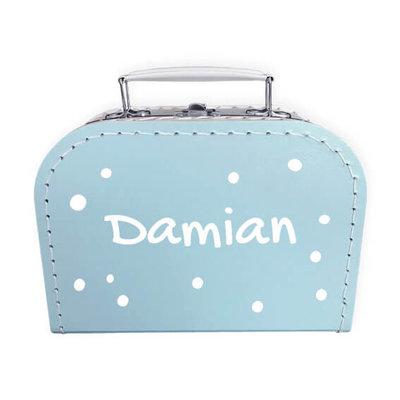 Koffer bedrukken 20cm (blauw)