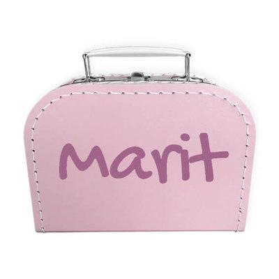 Koffer bedrukken 20cm (roze)