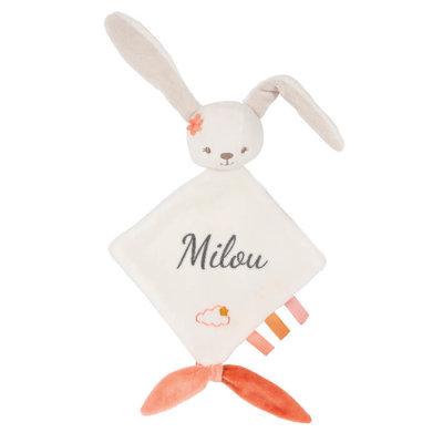 Speendoekje met naam (konijn)