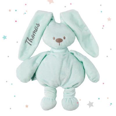 Knuffel konijn met naam (mint)