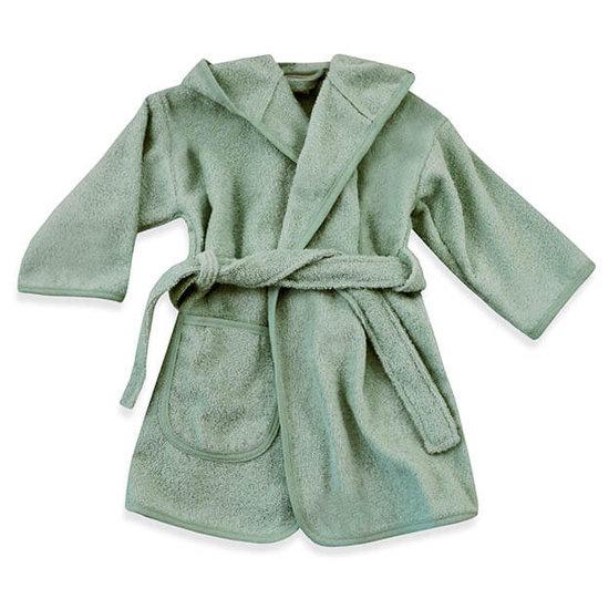 Baby badjas met naam (stone green)
