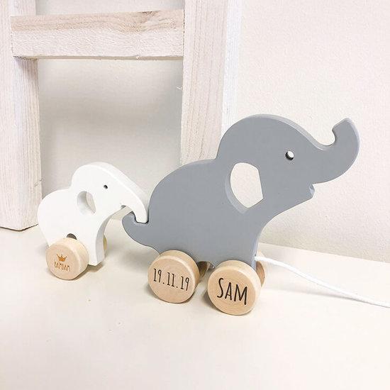 Wooden Elephant Pull toy (BAMBAM)