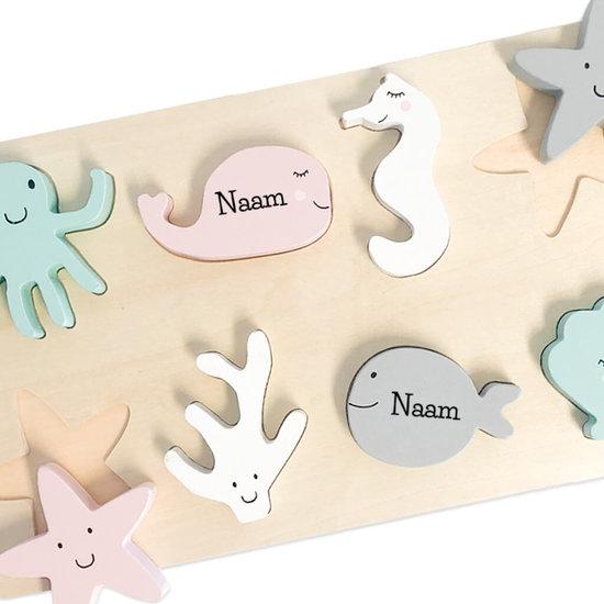 Speelgoed puzzel met naam (hout)