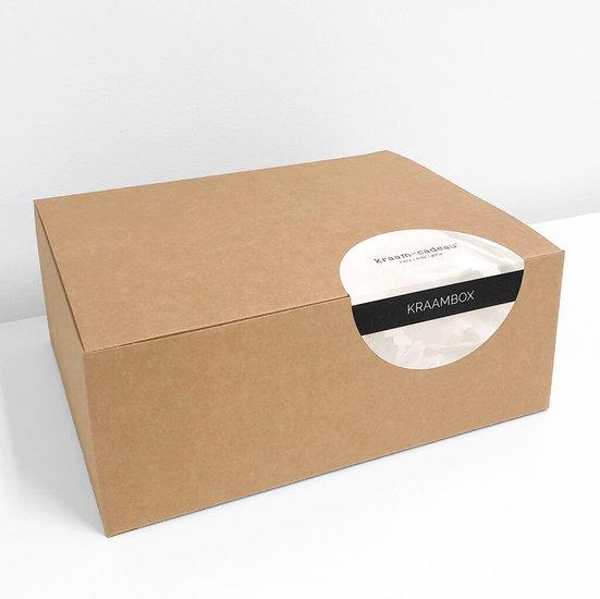 Kraamcadeau box met naam (naturel)