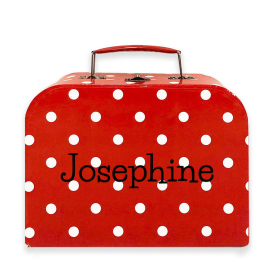 Koffertje met naam - kinderservies