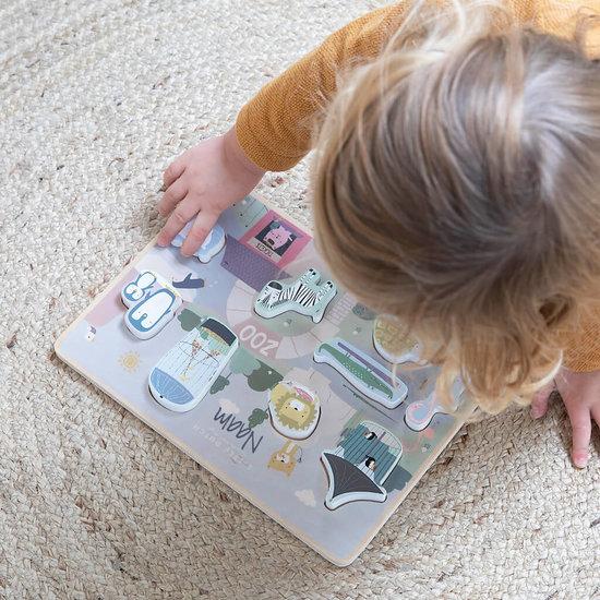Speelgoed puzzel met naam - DIERENTUIN