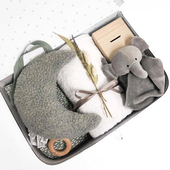Kraamcadeau koffer met naam - MOON