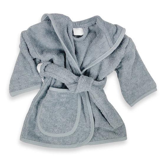 Baby badjas met naam (grey)