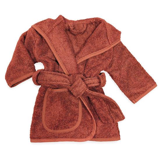 Baby badjas met naam (copper)