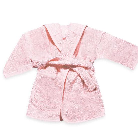 Baby badjas met naam (soft pink)
