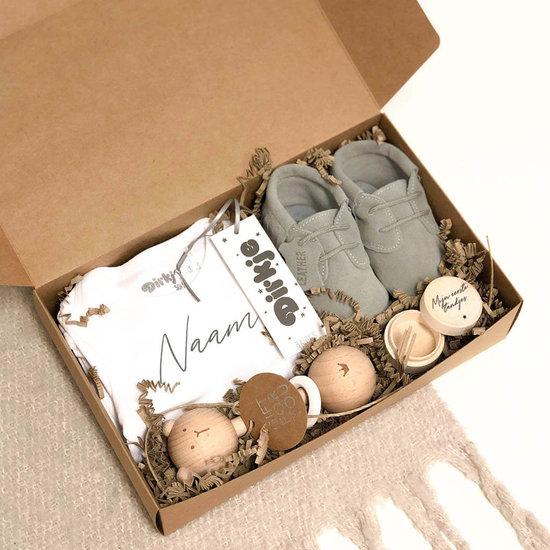 Giftbox met naam - Indian Grey
