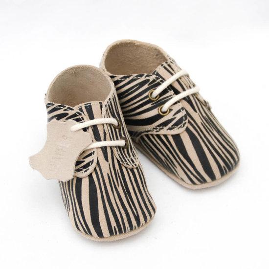 Babyschoentjes leer - Zebra