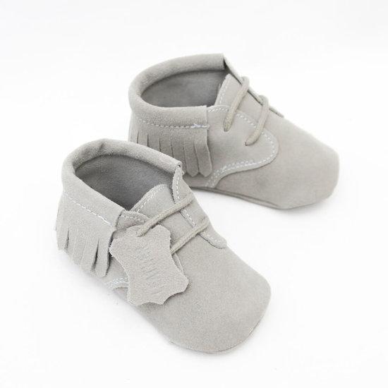 Babyschoentjes leer - Indian Grey