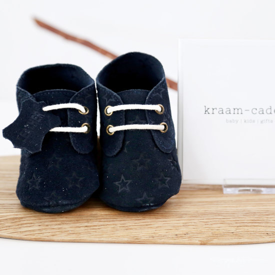 Babyschoentjes leer - Star Blue