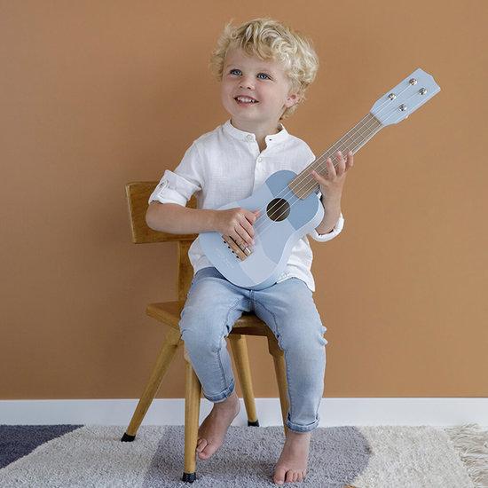Houten gitaar Little Dutch - met naam