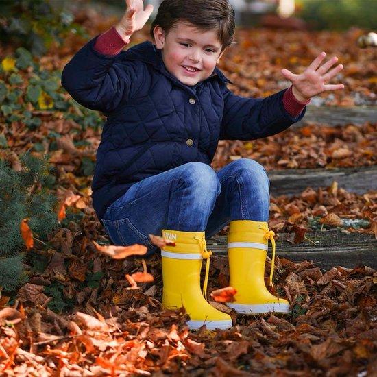 Gevoerde regenlaarzen kind - Yellow