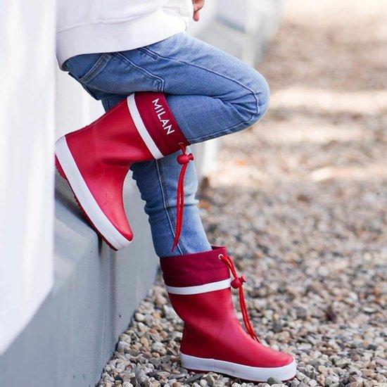 Gevoerde regenlaarzen kind - Red