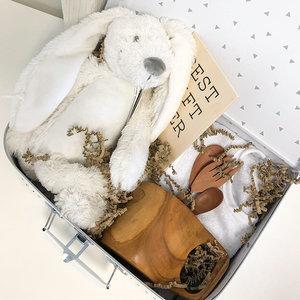 Duurzaam kraampakket koffer 30 cm (wit)