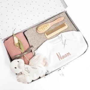Kraamcadeau koffer met naam - Duck Diara