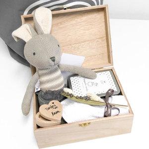 Knuffel konijn met naam (kraampakket)