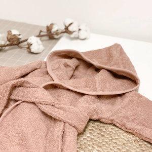 Baby badjas met naam (stone pink)