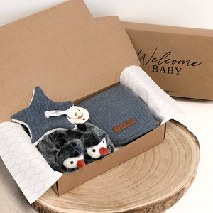 Giftbox met naam - Pinguin