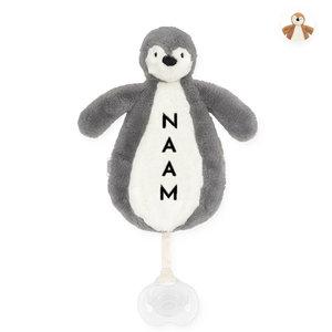 Jollein speendoekje met naam - Pinguïn