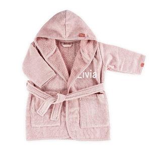 Baby badjas met naam (BAMBAM ) - roze