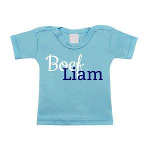 Baby t-shirt bedrukken (blauw)