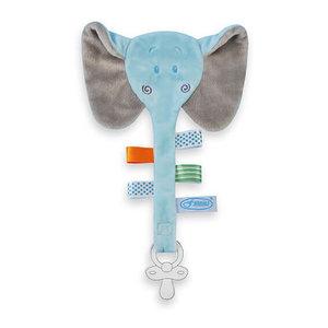 Speendoekje olifant (blauw)