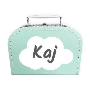 Koffer bedrukken 20cm (mint)