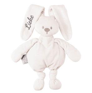 Knuffel konijn met naam (wit)